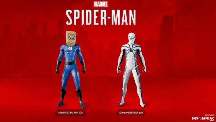 Spider-Man PS4 adds FantasticSuits