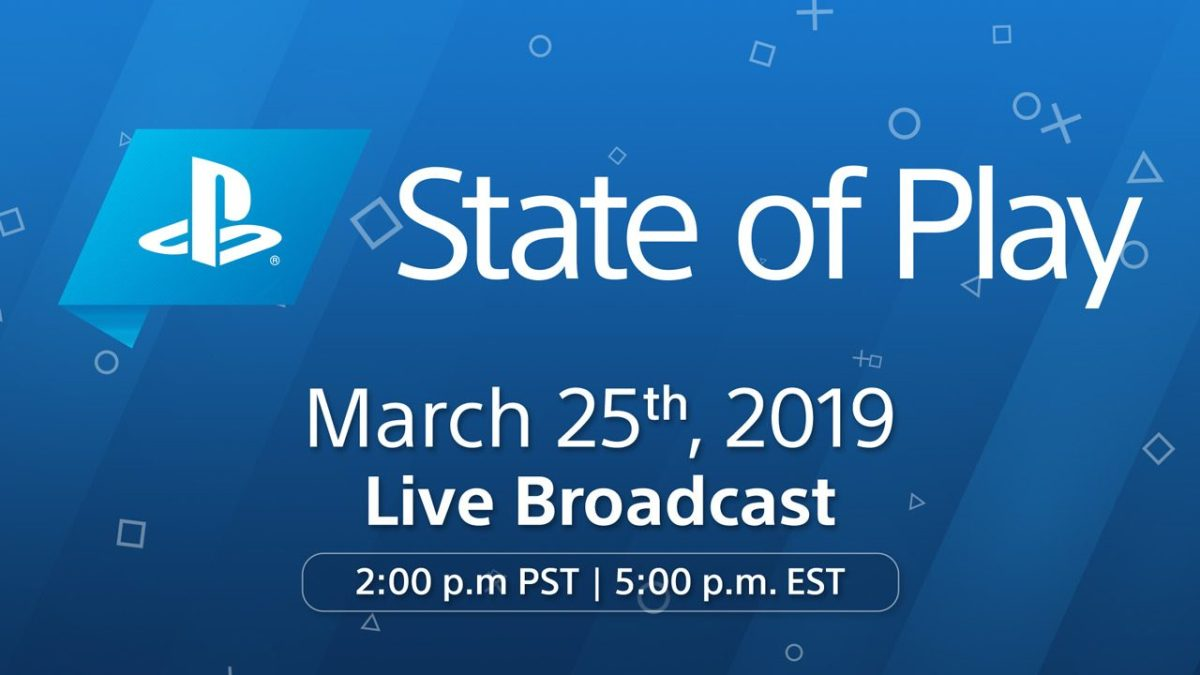 PlayStation State of Play announced for March25th